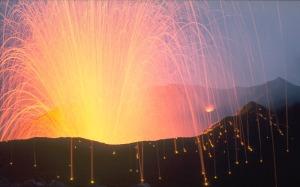 Volcanic Brightening Burst
