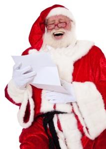 *Santa* having a good laugh at the results