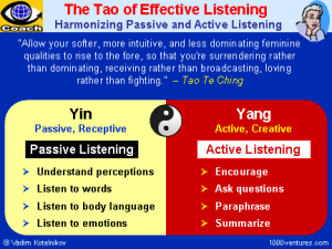 The Tao of Listening: it's not about the answers.